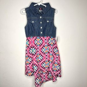 🦋3/$15 NWT diva patterned dress size 5/6